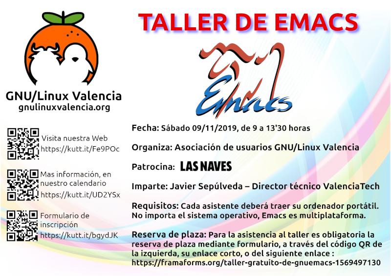 Taller GNU/Emacs