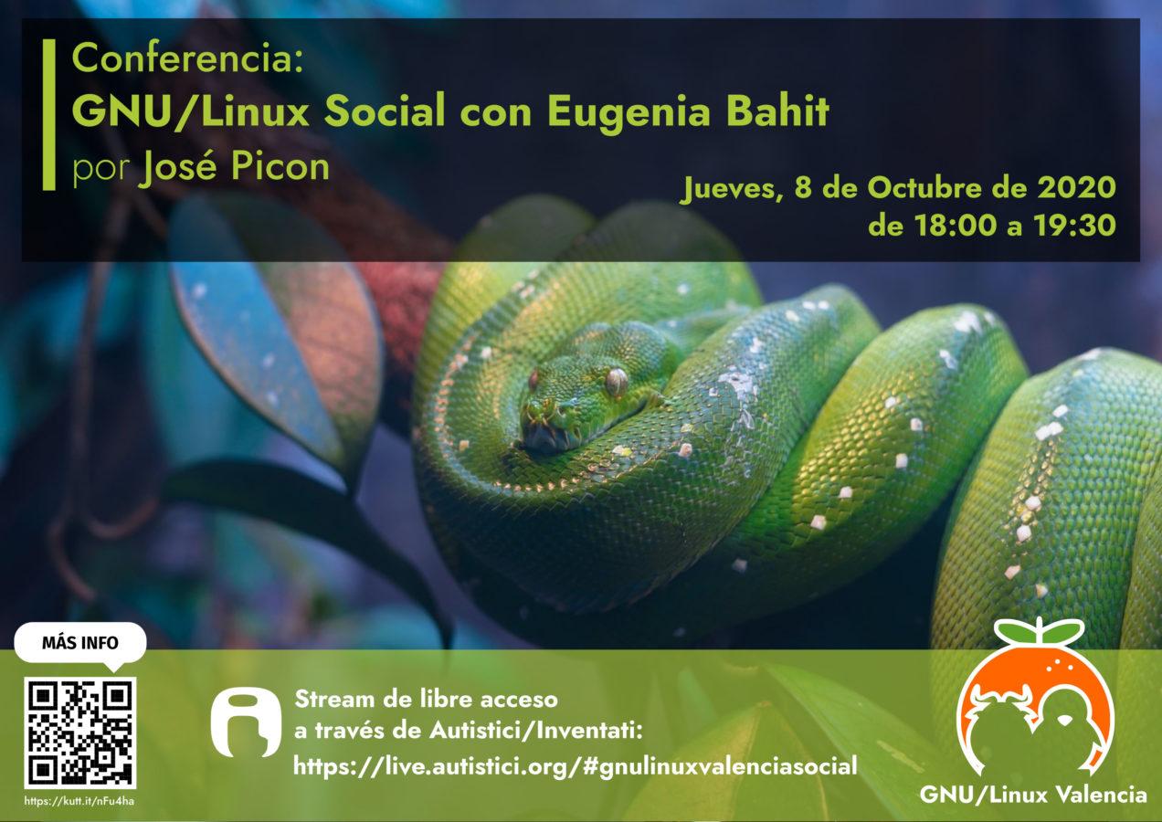 GNU/Linux Social con Eugenia Bahit